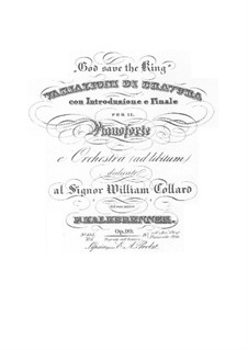 Bravura Variations on 'God Save the King', Op.99: Bravura Variations on 'God Save the King' by Фридрих Калькбреннер