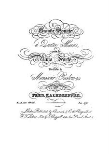 Большая соната для фортепиано в четыре руки, Op.76: Большая соната для фортепиано в четыре руки by Фридрих Калькбреннер