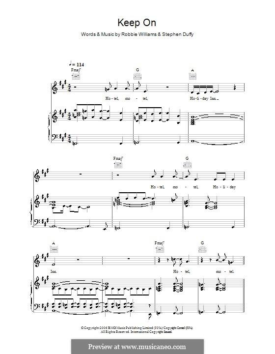 Keep on: Для голоса и фортепиано (или гитары) by Stephen Duffy