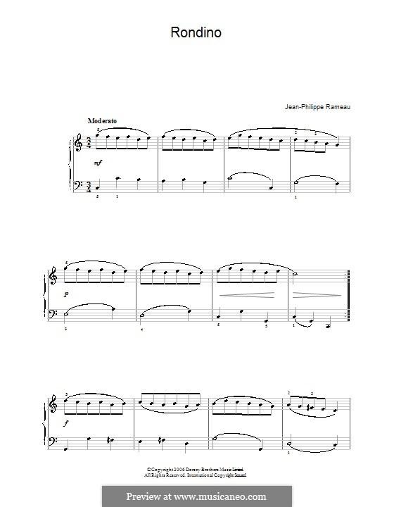 Менуэт до мажор, RCT 4: Для фортепиано (легкий уровень) by Жан-Филипп Рамо