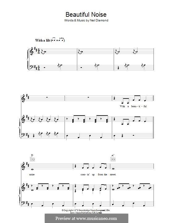 Beautiful Noise: Для голоса и фортепиано (или гитары) by Neil Diamond