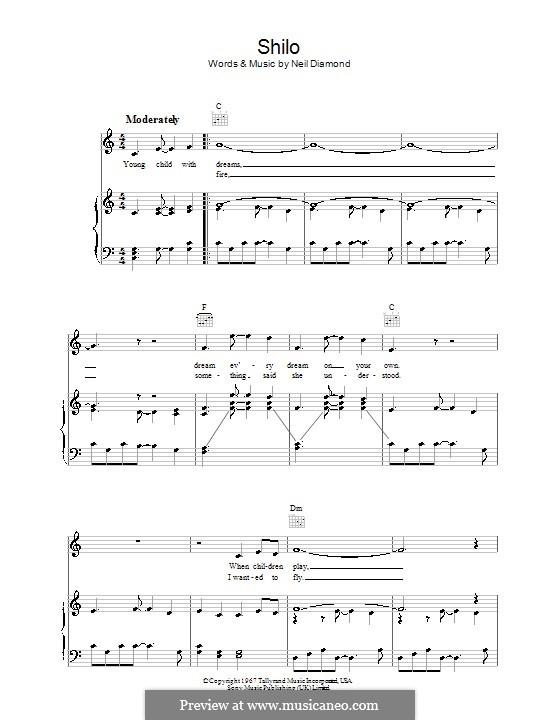 Shilo: Для голоса и фортепиано (или гитары) by Neil Diamond