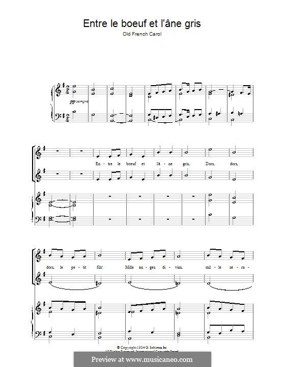 Entre le boeuf et l'âne gris: Для голоса и фортепиано by folklore