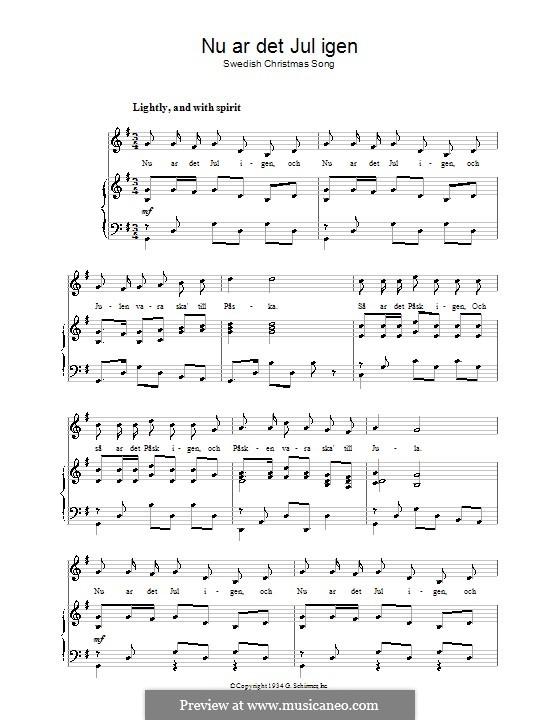 Nu ar det Jul igen: Для голоса и фортепиано by folklore
