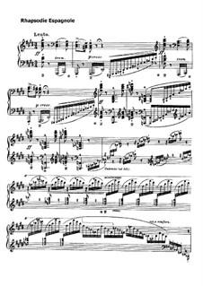 Испанская рапсодия, S.254: Для фортепиано by Франц Лист