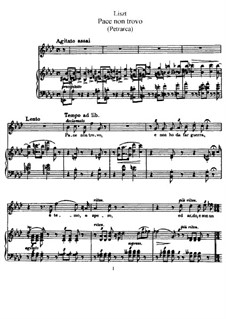 Сонеты Петрарки для голоса и фортепиано, S.270: Сборник by Франц Лист