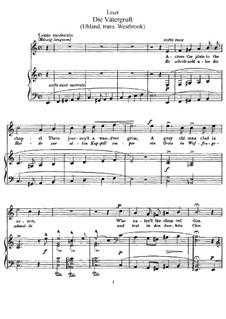 Die Vätergruft, S.281: Klavierauszug mit Singstimmen by Франц Лист