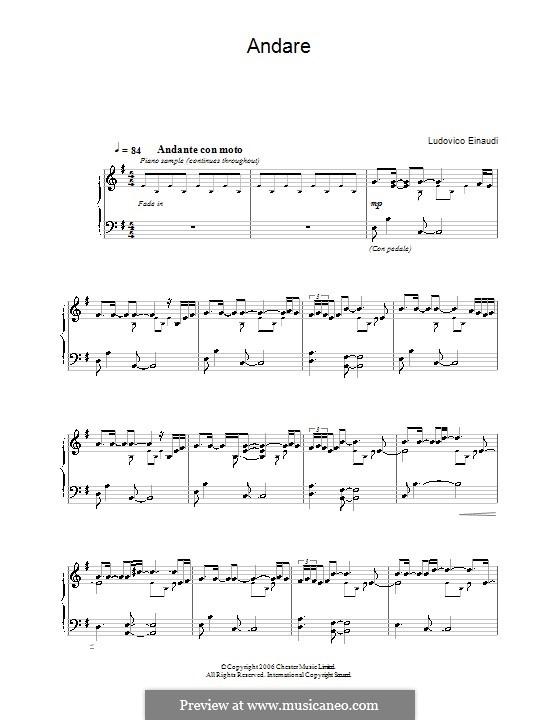 Andare: Для фортепиано by Ludovico Einaudi