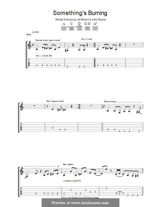Something's Burning (The Stone Roses): Гитарная табулатура by Ian Brown, John Squire