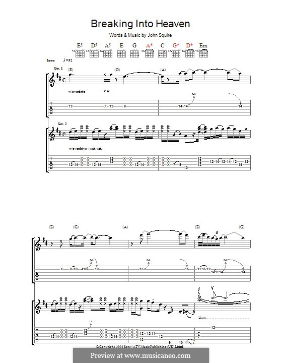 Breaking Into Heaven (The Stone Roses): Для гитары с табулатурой by John Squire