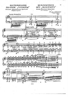 Воспоминание об опере 'Гугеноты'. Транскрипция на темы Мейербера, S.412: Воспоминание об опере 'Гугеноты'. Транскрипция на темы Мейербера by Франц Лист