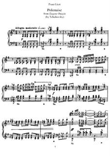 Акт III, No.19 Полонез: Аранжировка для фортепиано, S.429 by Петр Чайковский