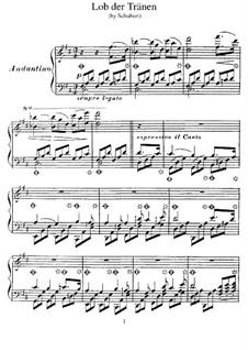 Похвала слезам, D.711 Op.13 No.2: Для фортепиано, S.557 by Франц Шуберт