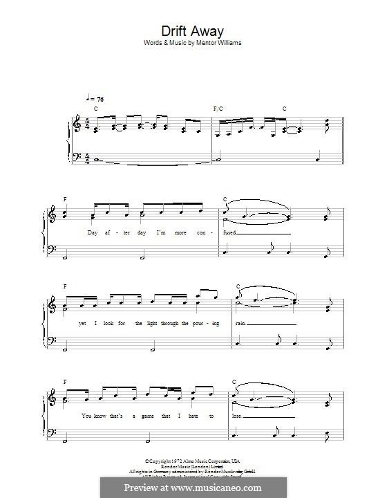 Drift Away (Dobie Gray): Для начинающего пианиста by Mentor Williams