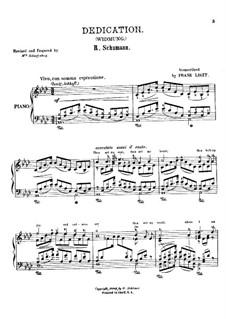 No.1 Посвящение: Для фортепиано, S.566 by Роберт Шуман