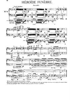 Симфоническая поэма No.8 'Плач о герое', для фортепиано в четыре руки, S.596a: Клавир by Франц Лист