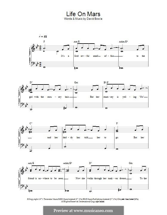Life on Mars?: Для фортепиано (легкий уровень) by David Bowie