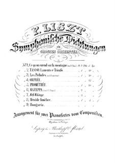 Симфоническая поэма No.5 'Прометей', для двух фортепиано в четыре руки, S.639: Симфоническая поэма No.5 'Прометей', для двух фортепиано в четыре руки by Франц Лист