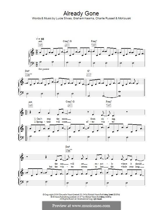 Already Gone: Для голоса и фортепиано (или гитары) by McKouski, Charles Russell, Graham Kearns