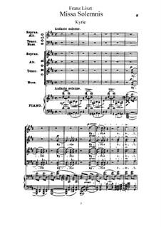 Missa solennis zur Einweihung der Basilika in Gran, S.9: Klavierauszug mit Singstimmen by Франц Лист