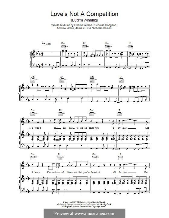 Love's Not a Competition (But I'm Winning): Для голоса и фортепиано или гитары (Kaiser Chiefs) by Andrew White, James Rix, Nicholas Baines, Nicholas Hodgson, Charles Wilson