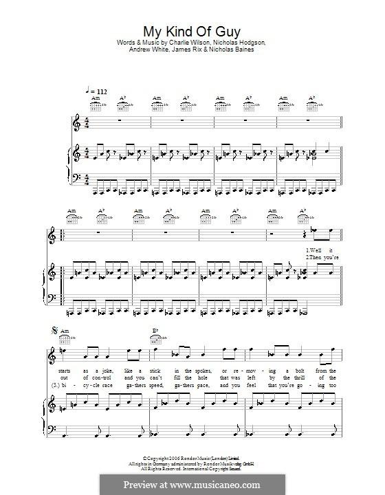 My Kind of Guy (Kaiser Chiefs): Для голоса и фортепиано (или гитары) by Andrew White, James Rix, Nicholas Baines, Nicholas Hodgson, Charles Wilson