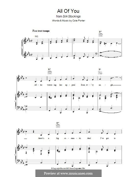 All of You: Для голоса и фортепиано (или гитары) by Кол Портер