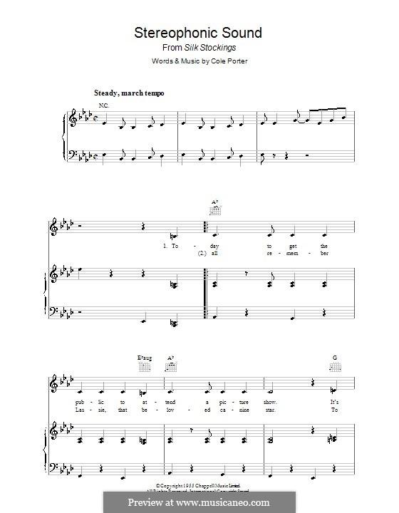 Stereophonic Sound: Для голоса и фортепиано (или гитары) by Кол Портер