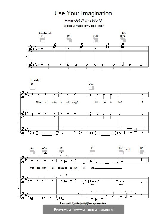 Use Your Imagination: Для голоса и фортепиано (или гитары) by Кол Портер