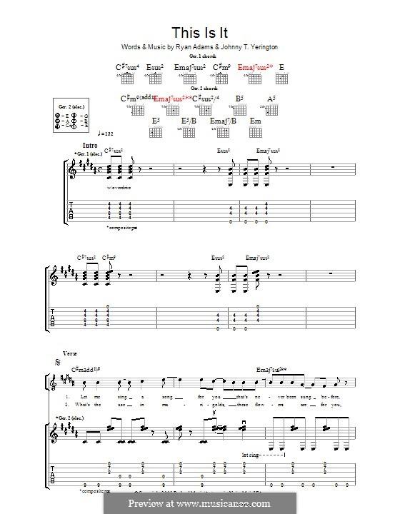 This Is It: Для гитары с табулатурой by Johnny T. Yerington