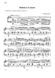 Рондо в стиле мазурки, Op.5: Для фортепиано by Фредерик Шопен