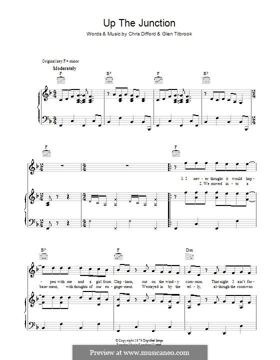 Up the Junction (Squeeze): Для голоса и фортепиано (или гитары) by Christopher Difford, Glenn Tilbrook