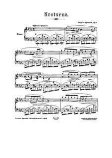 Ноктюрн ре бемоль мажор, Op.8: Ноктюрн ре бемоль мажор by Сергей Ляпунов