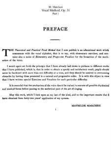 Методика пения, Op.31: Сборник by Матильда Маркези