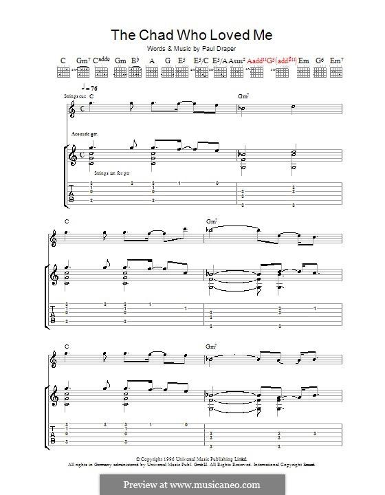 The Chad Who Loved Me (Mansun): Гитарная табулатура by Paul Draper