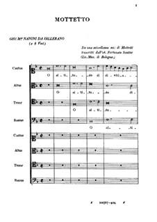 O altitudo divitiarum: O altitudo divitiarum by Джованни Мария Нанино