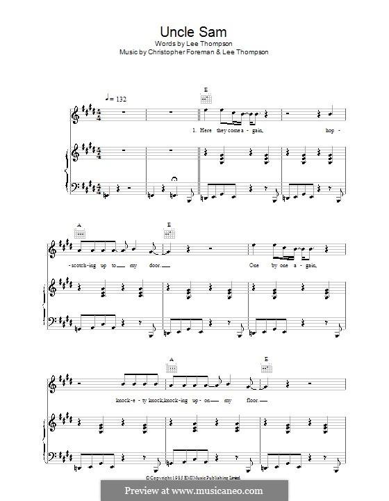 Uncle Sam (Madness): Для голоса и фортепиано (или гитары) by Christopher Foreman, Lee Thompson