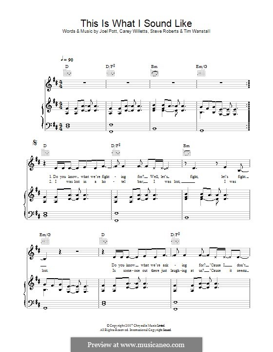 This Is What I Sound Like (Athlete): Для голоса и фортепиано (или гитары) by Carey Willetts, Joel Pott, Steven Roberts, Timothy Wanstall