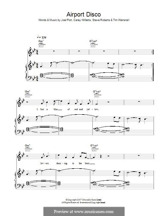 Airport Disco (Athlete): Для голоса и фортепиано (или гитары) by Carey Willetts, Joel Pott, Steven Roberts, Timothy Wanstall
