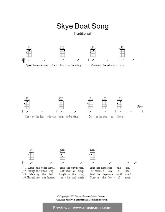 The Skye Boat Song: Укулеле с вариантами боя by folklore