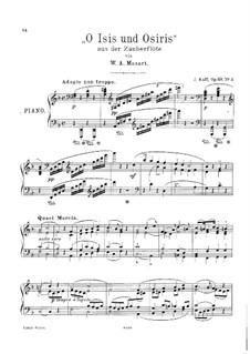 O, Исида и Осирис: Для фортепиано by Вольфганг Амадей Моцарт