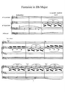 Фантазия для органа No.2 ре-бемоль мажор, Op.101: Фантазия для органа No.2 ре-бемоль мажор by Камиль Сен-Санс