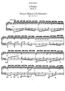 Шесть этюдов, Op.111: Шесть этюдов by Камиль Сен-Санс