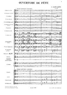 Ouverture de fête, Op.133: Ouverture de fête by Камиль Сен-Санс