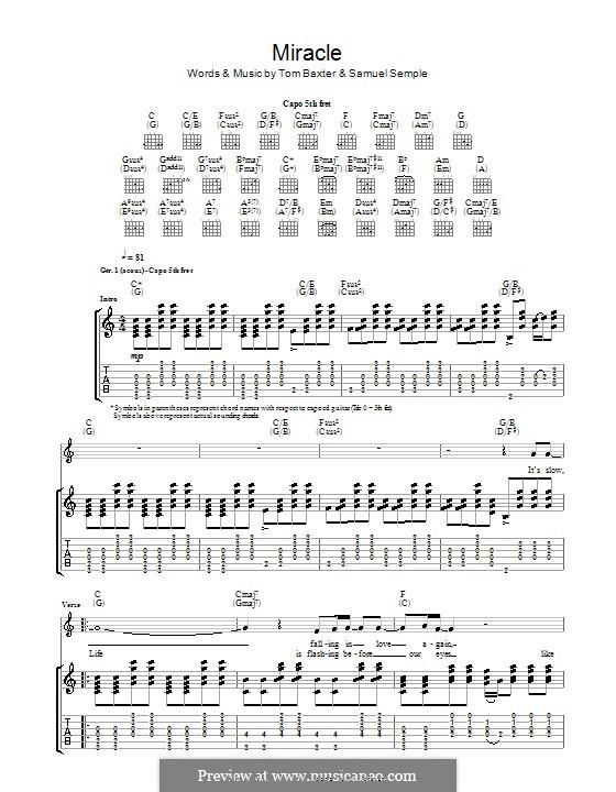 Miracle: Для гитары с табулатурой by Samuel Semple