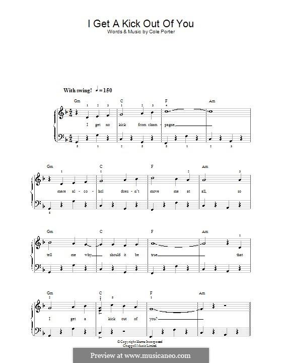 I Get a Kick Out of You (Frank Sinatra): Для фортепиано (легкий уровень) by Кол Портер