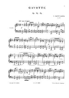 Гавот до минор, Op.23: Для фортепиано by Камиль Сен-Санс