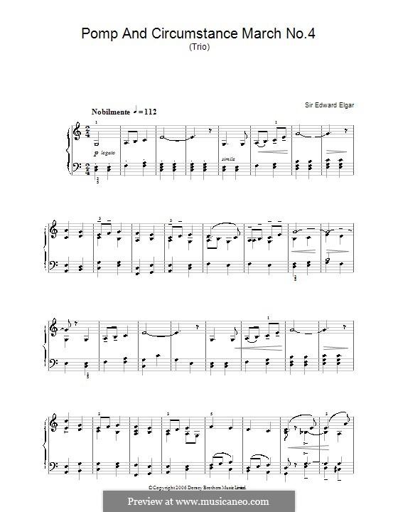Марш No.4: Для фортепиано by Эдуард Элгар