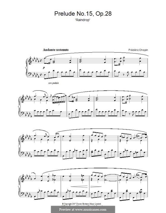 No.15 ре-бемоль мажор: Для фортепиано by Фредерик Шопен