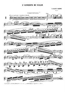 Концерт для скрипки с оркестром No.2 до мажор, Op.58: Концерт для скрипки с оркестром No.2 до мажор by Камиль Сен-Санс